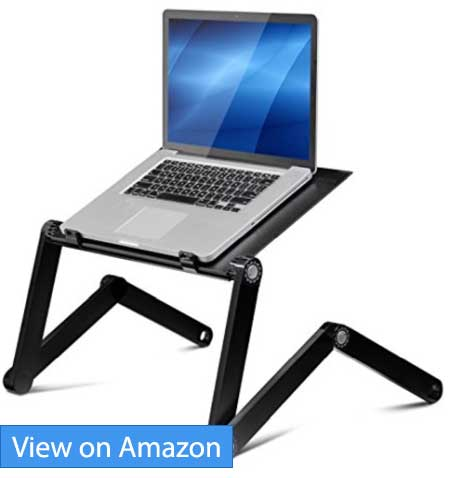Furinno X7-BK Ergonomics Aluminum Adjustable Cooling Fan Laptop Tray Table