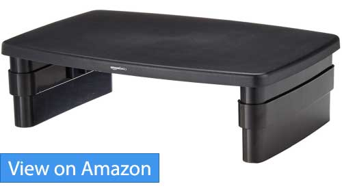 Amazon Basics Adjustable Monitor Stand review