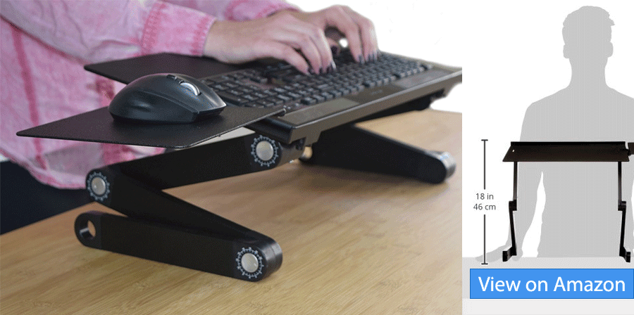 Standing Desk With Adjustable Keyboard Tray