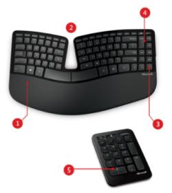 Ergonomic Gift- Microsoft Sculpt Keyboard