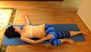 Supine Twist Yoga Pose for Sciatica
