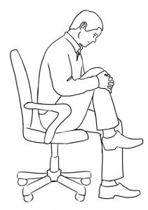 Seated Back Curl Exercise