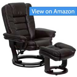 Flash Furniture Black Leather Recliner and Ottoman Review