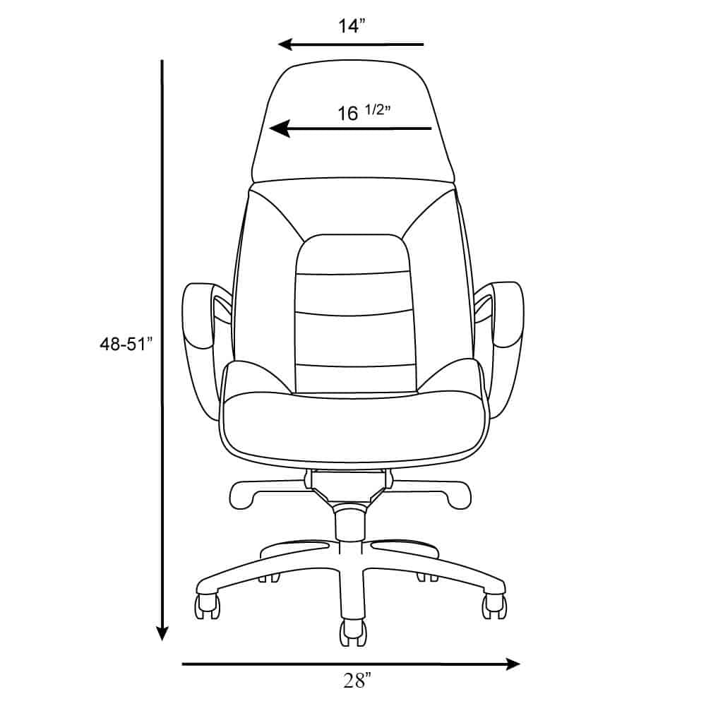 Gates Leather Office Chair Dimensions