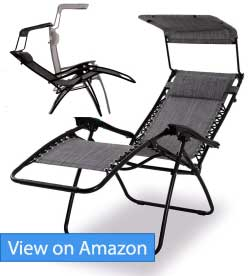 PHI VILLA Textilene Zero Gravity Lounge Chair with Canopy Review