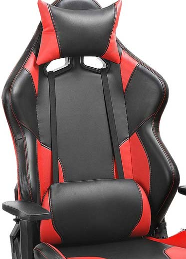 Gaming Chair Detachable Lumbar and Head Pillows
