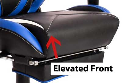 Gaming Chair Ergonomics- Raised Front Seat