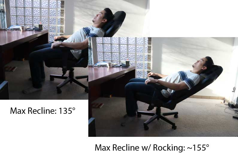 Noblechairs Hero Max Recline Angle