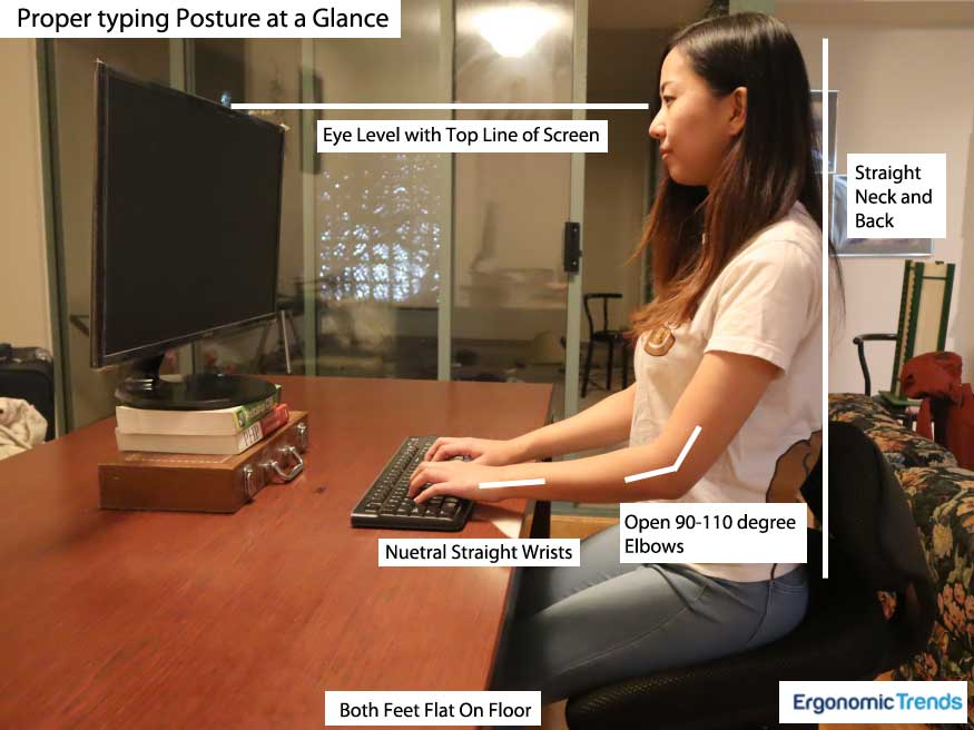 Proper Typing Posture According to Experts