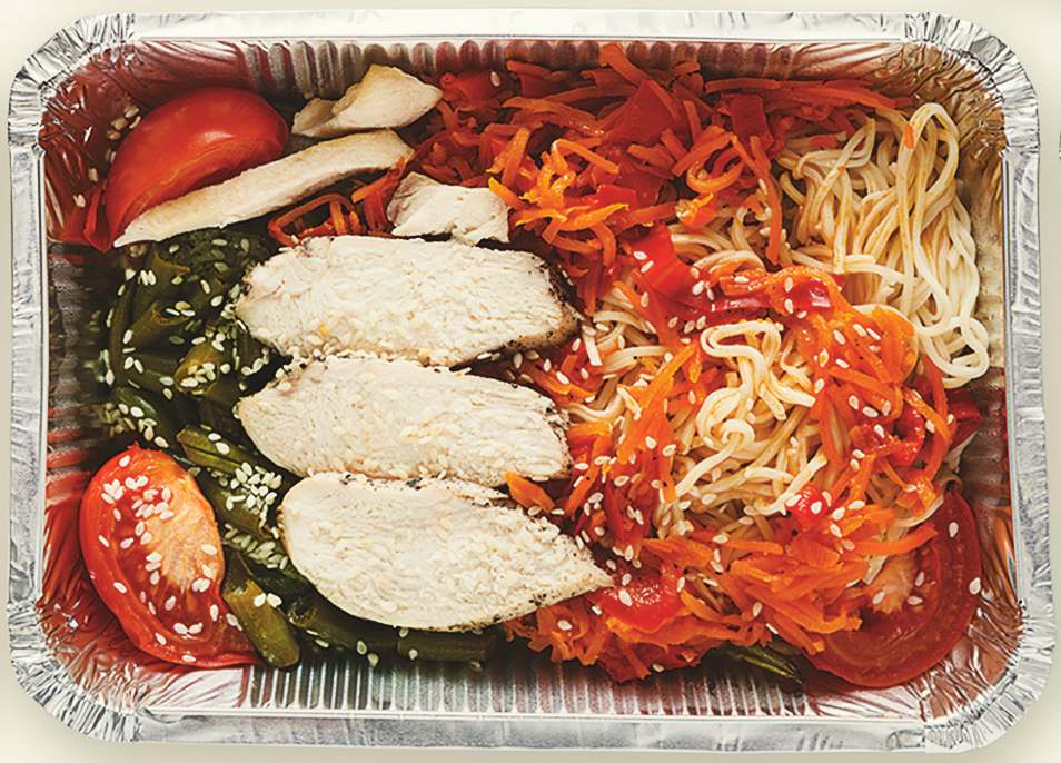 Asian Noodles and Grilled Chicken Box Recipe