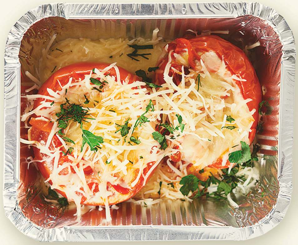 Cheesy Baked Tomatoes Lunchbox Recipe