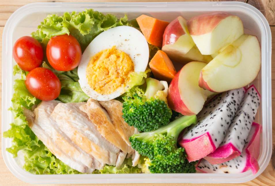 Chicken with Egg Salad Lunchbox Recipe