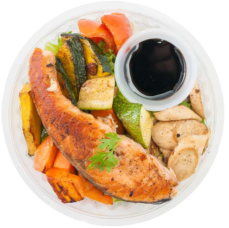Pan-Roasted Salmon and Vegetables Box Recipe