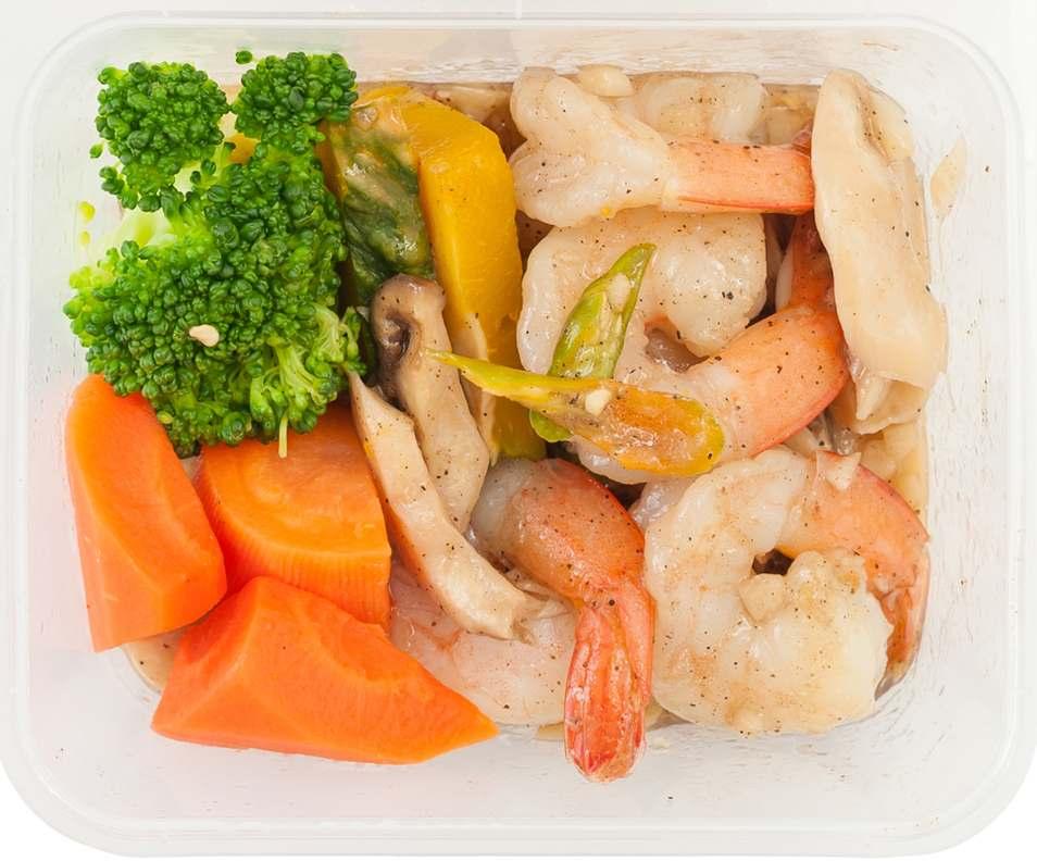 Garlic Butter Shrimp with Vegetables Recipe