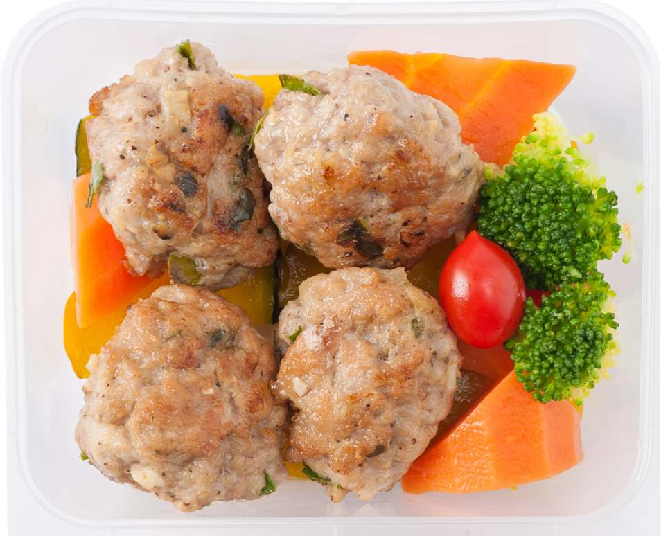 Healthy Meatballs and Veggies Box Recipe