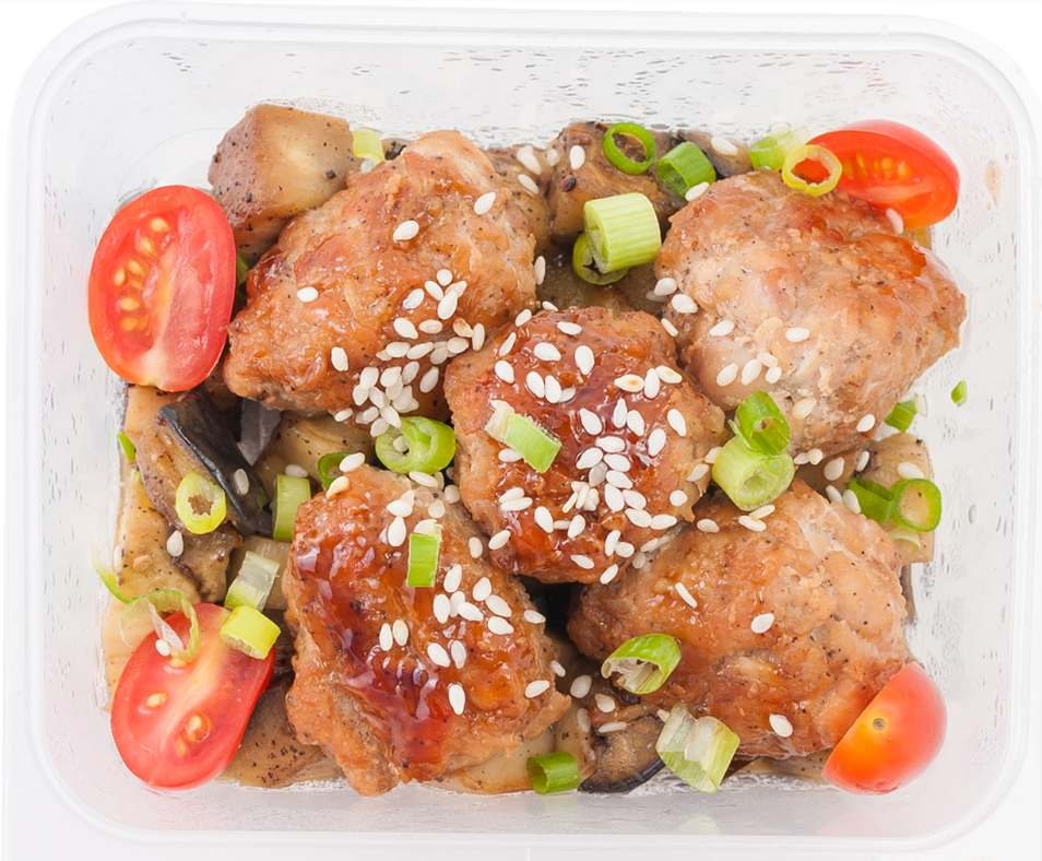 Pan-Fried Chicken with Sauteed Vegetables Lunchbox Recipe