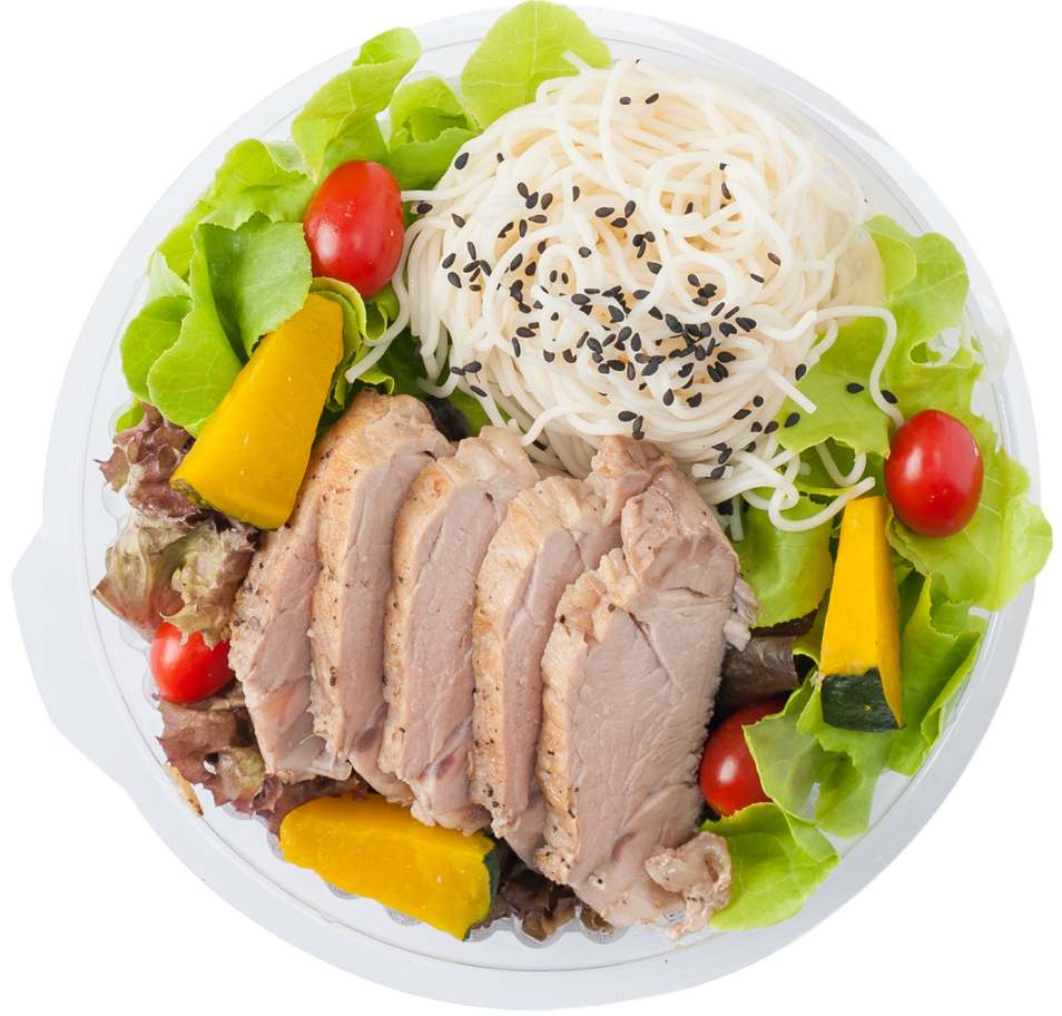 Sesame Vermicelli and Pork Salad Lunch Box Recipe
