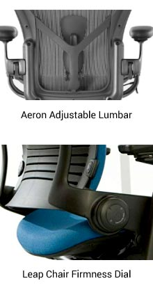 Adjustable Lumbar Support on Office Chair
