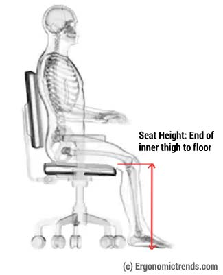 Office Chair Seat Pan Height