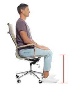 Groovy Standard And Ideal Office Chair Height Explained Ergonomic Evergreenethics Interior Chair Design Evergreenethicsorg