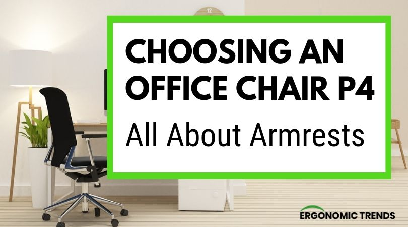Different types of armrests on office chairs