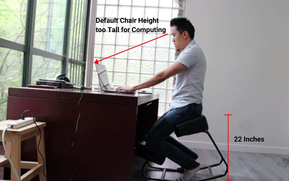 Sleekform Amsterdam Kneeling Chair Height
