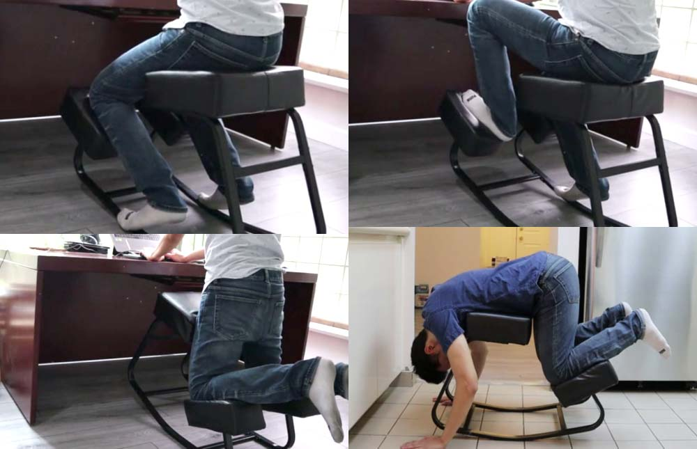Variety of Sitting Positions with Sleekform Amsterdam Kneeling Chair