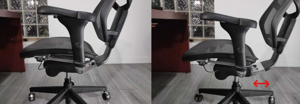 Seat Depth Adjustment in Ergonomic Chair