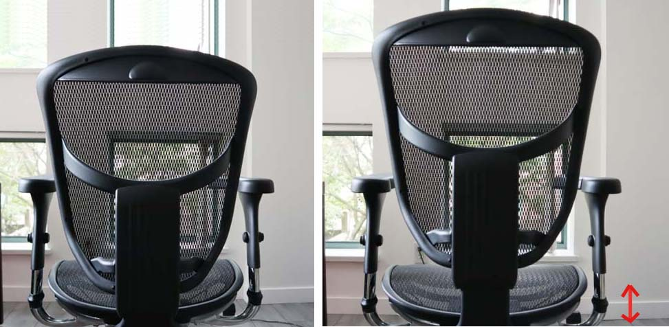 Backrest Height Adjustment in Ergonomic Chair