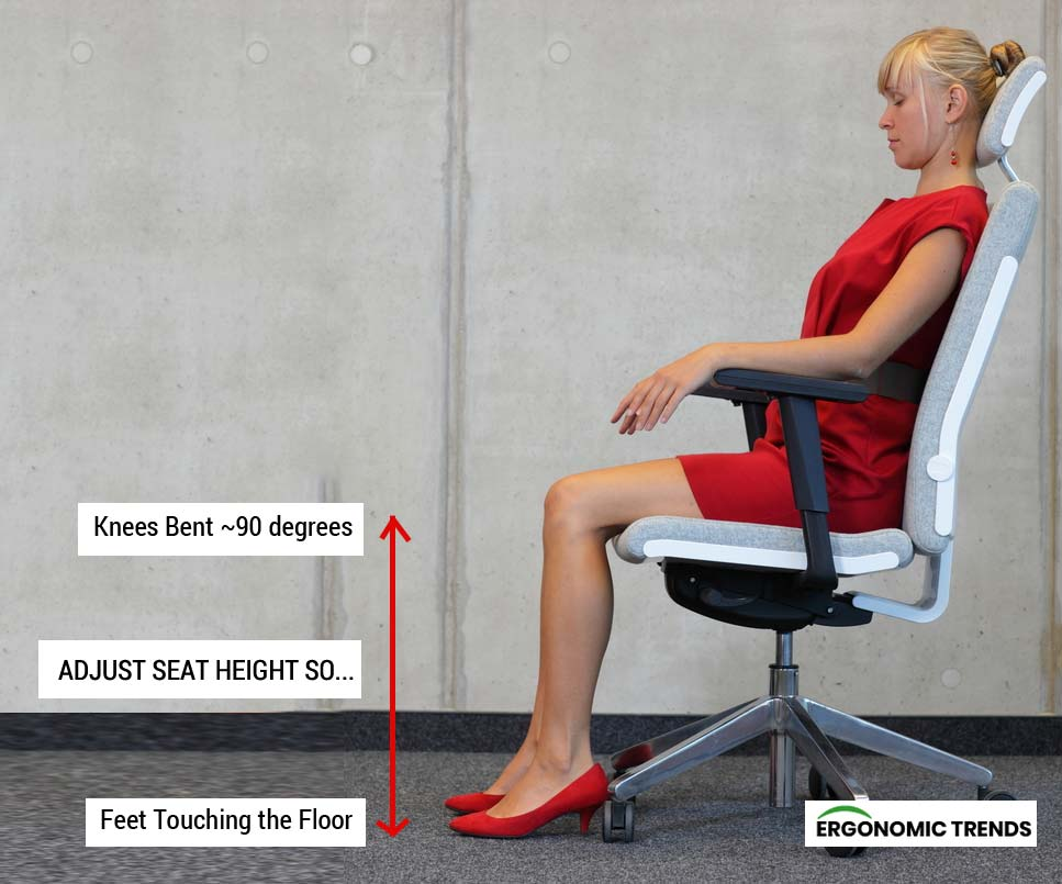 Ideal Seat Height in Office Chair