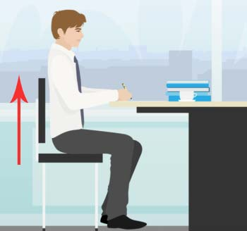 Sitting Upright at a 90 Degree Angle- Bad Posture