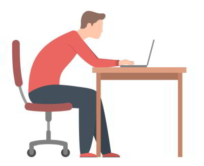 2. Slouching or Leaning Forward Poor Sitting Posture