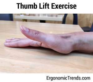 Thumb Lift Excercise