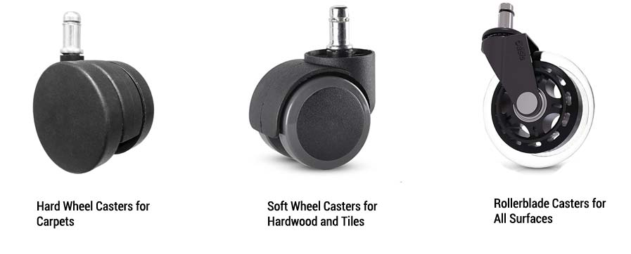 Types of Casters in Ergonomic Chair