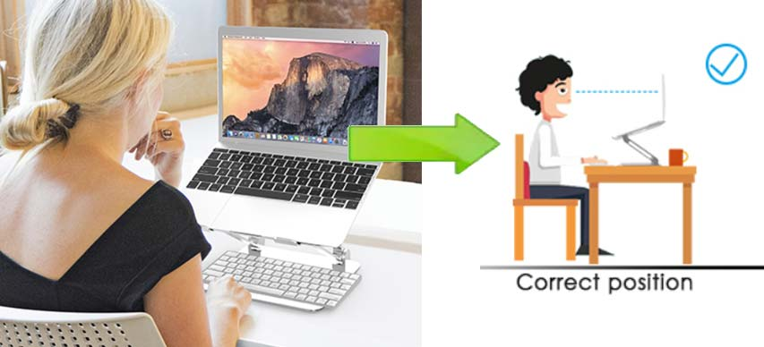 Laptop stand with external keyboard