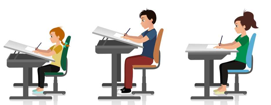 Outstanding Ergonomic And Correct Sitting Posture For Children Some Cjindustries Chair Design For Home Cjindustriesco