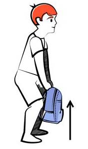 Lift the Backpack the Right Way for Backpack Safety