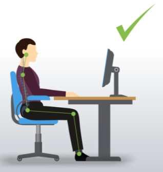 Good sitting posture