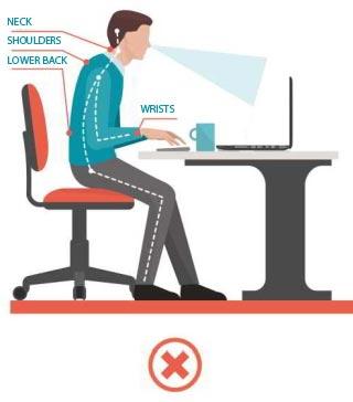 Poor laptop posture