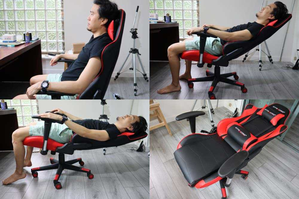 GTracing Gaming Chair backrest recline