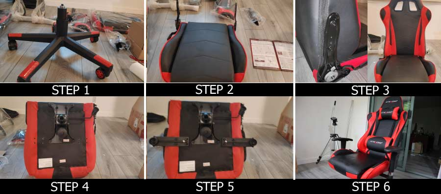 GTracing Gaming Chair Assembly Instructions