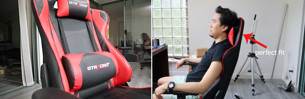 GTracing Gaming Chair external pillows