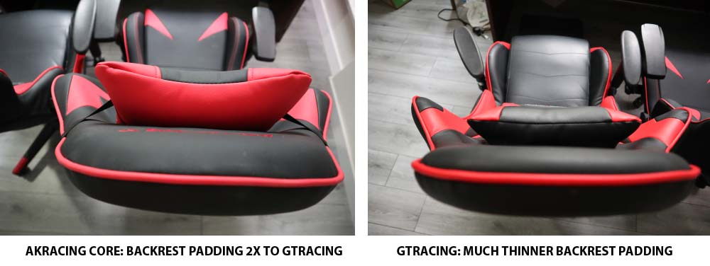 AKRacing Core Series Backrest Thickness