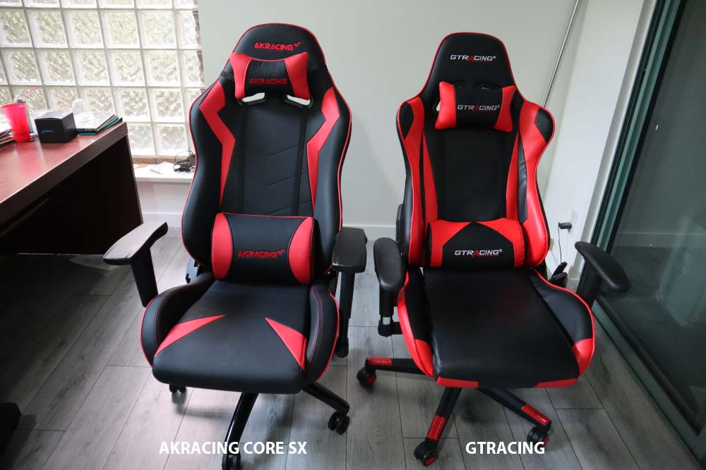 AKRacing Core Series SX vs GTracing Gaming Chair