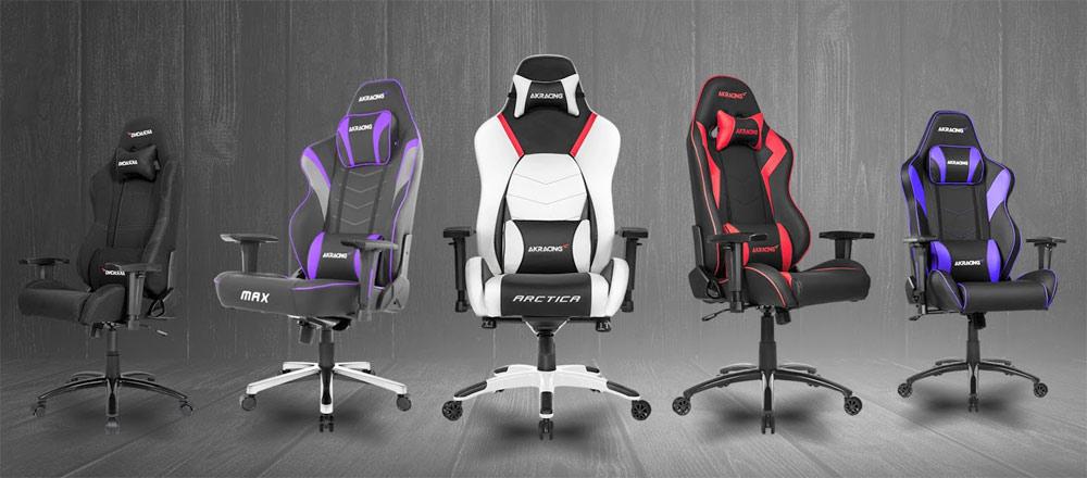 AKRacing Gaming Chairs Lineup