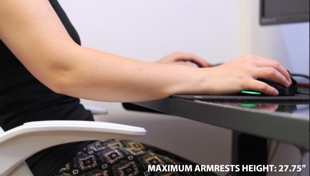 Hbada Office Task Chair Armrest height