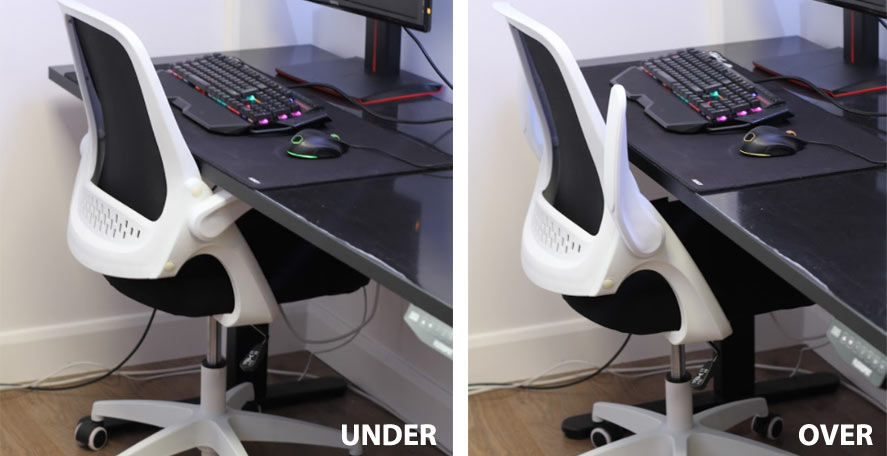 Hbada Office Task Chair Folding Armrests