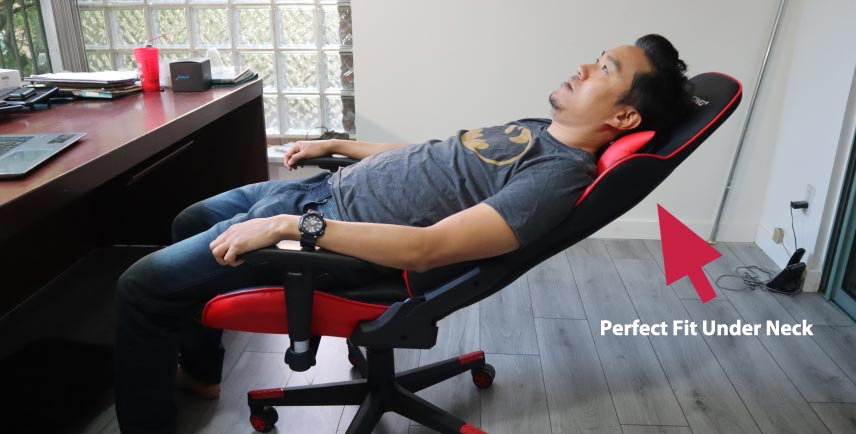 external neck pillow in gaming chairs