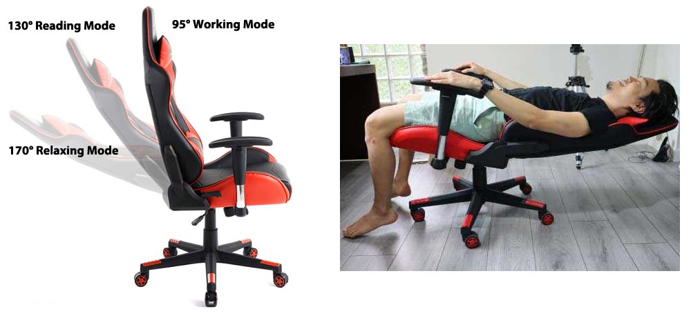 gaming chair backrest recline