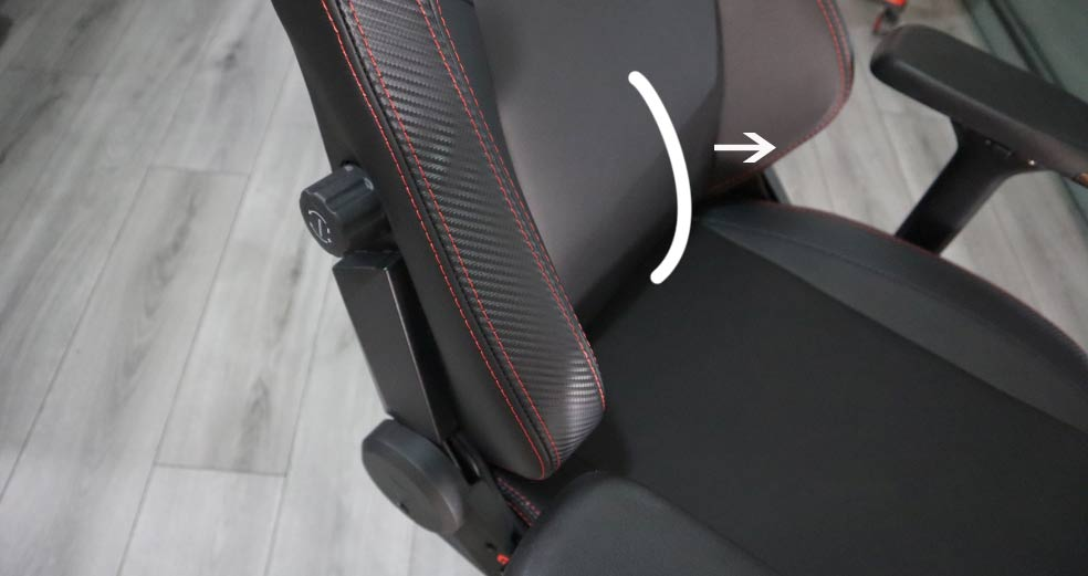 Secretlab Titan built in lumbar support